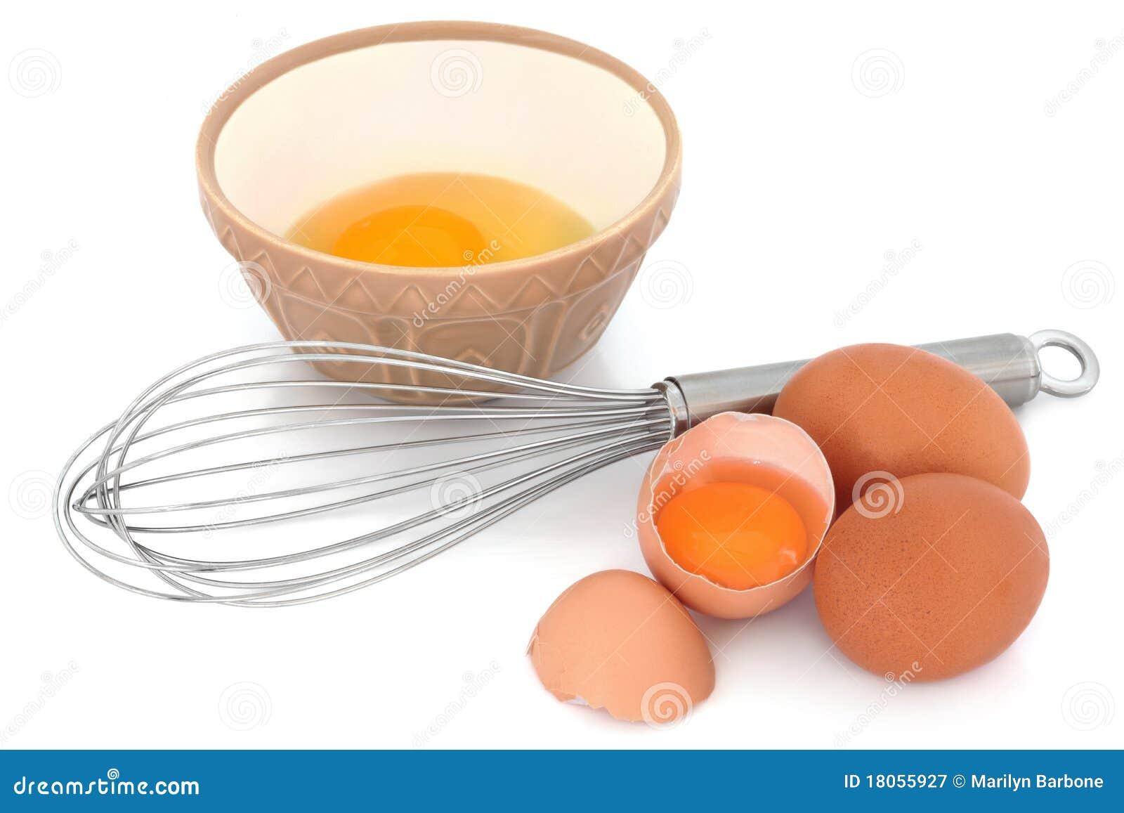 Os ovos salpicados e Whisk