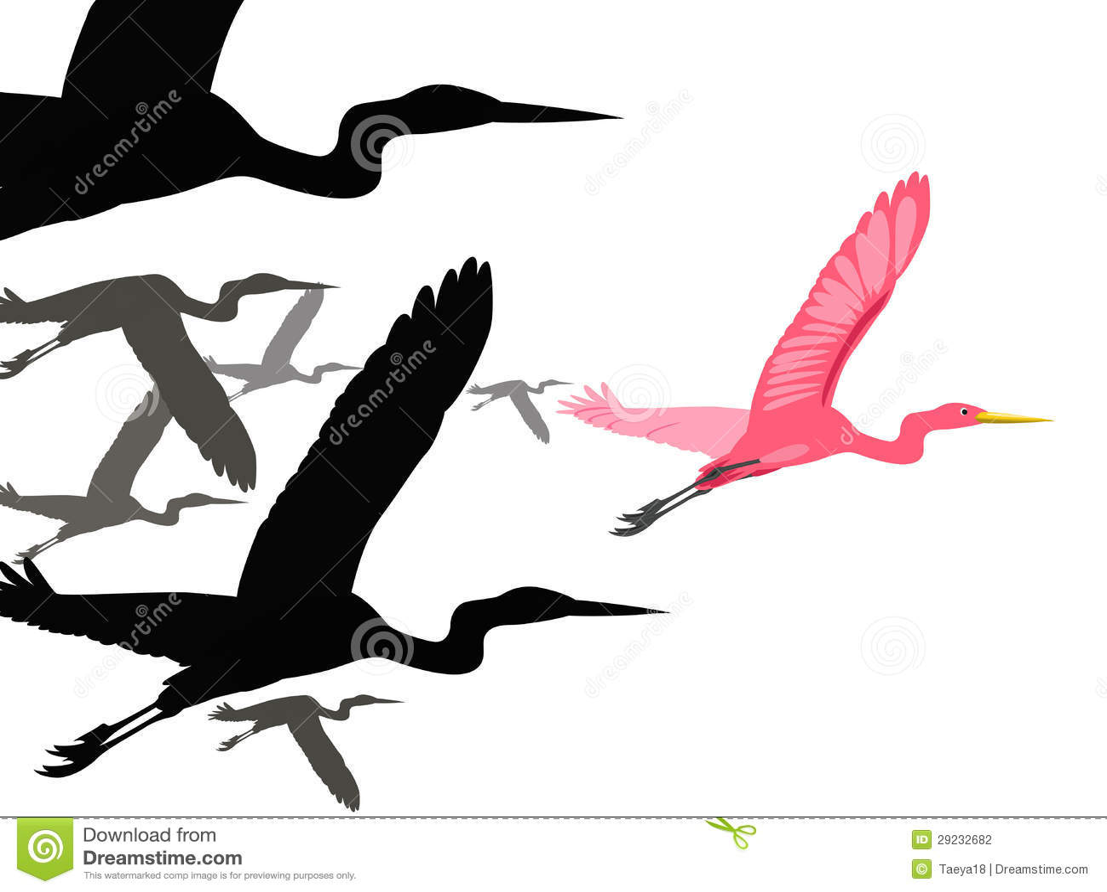 Download Os pássaros voam ilustração do vetor. Ilustração de adiante - 29232682