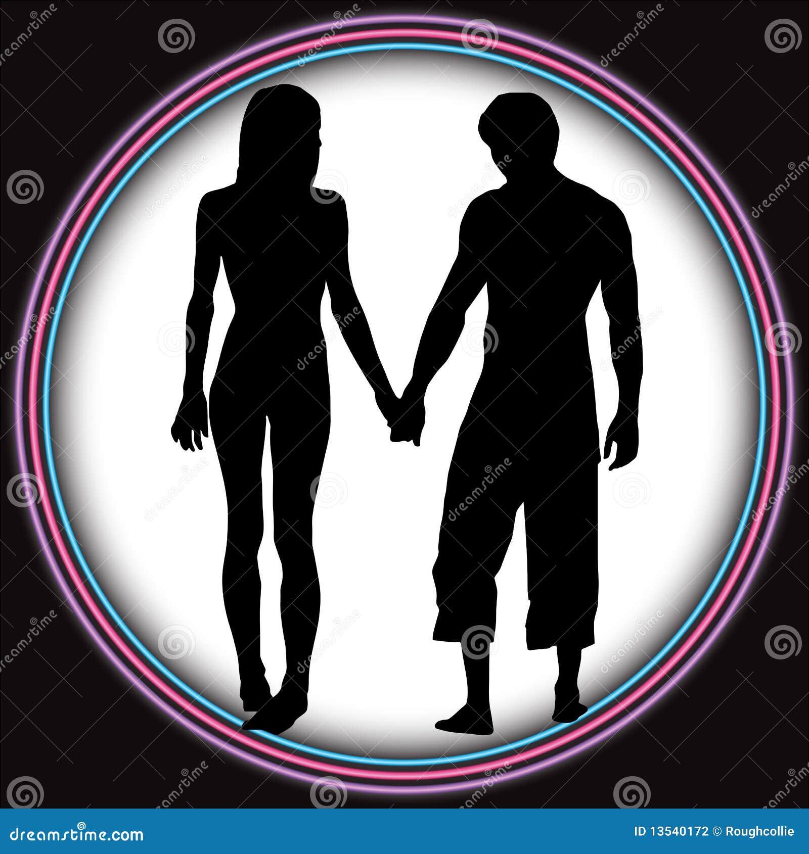 Os pares românticos amam o túnel