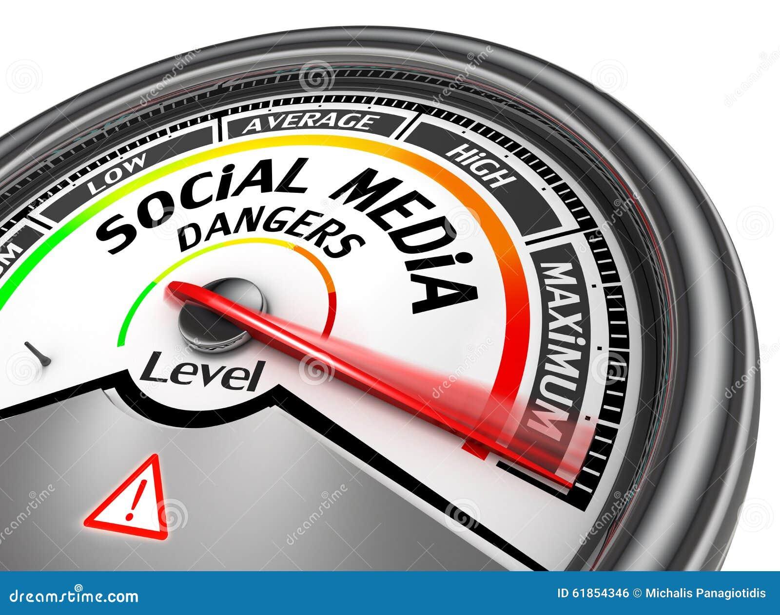 Os perigos sociais dos meios nivelam ao medidor conceptual moderno máximo