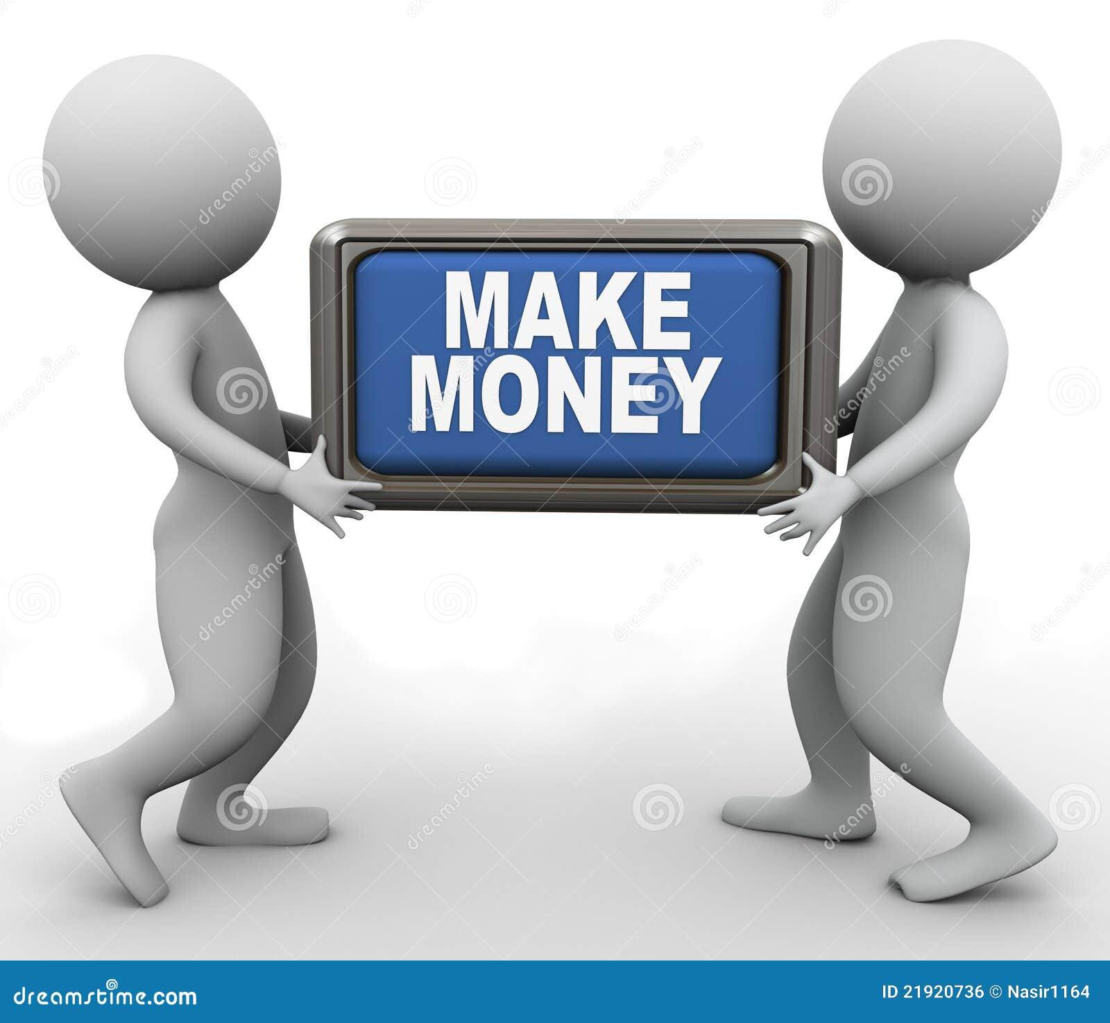 Os povos 3d e fazem a tecla do dinheiro