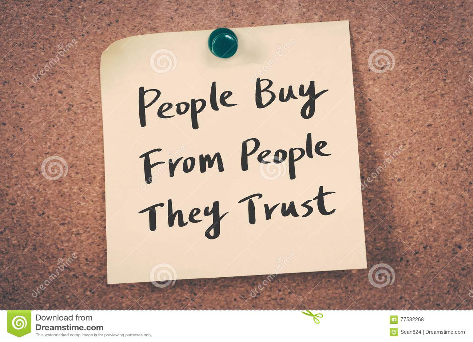 Os povos compram dos povos que confiam