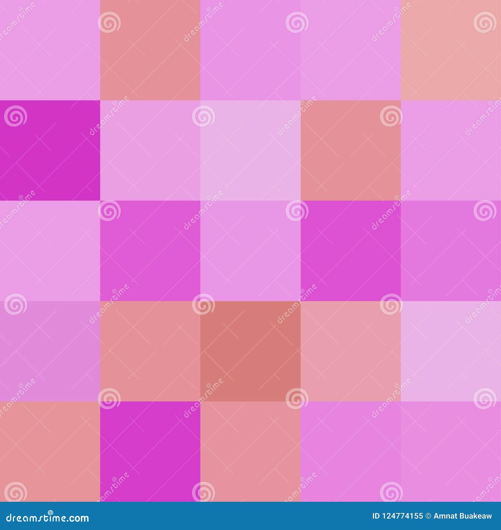 Os quadrados coloridos colorem o marrom roxo, brilhante pastel macio do bloco