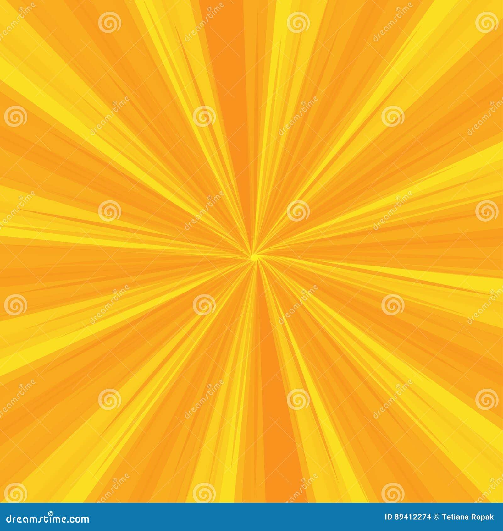 Os raios modelam com as listras da explosão da luz amarela Sun Ray Fundo abstrato do papel de parede Ilustração do vetor