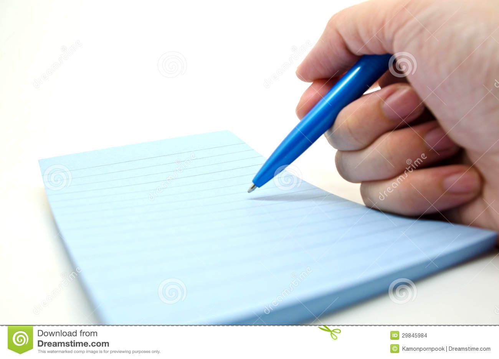 Escrevendo algo