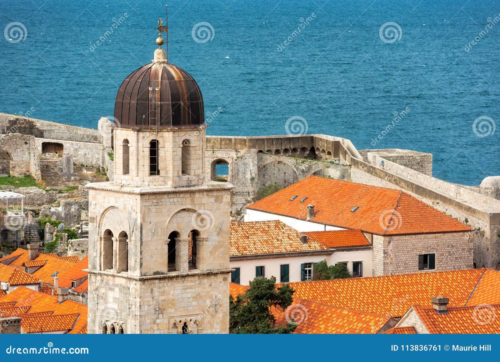 Os telhados telhados de Dubrovnik
