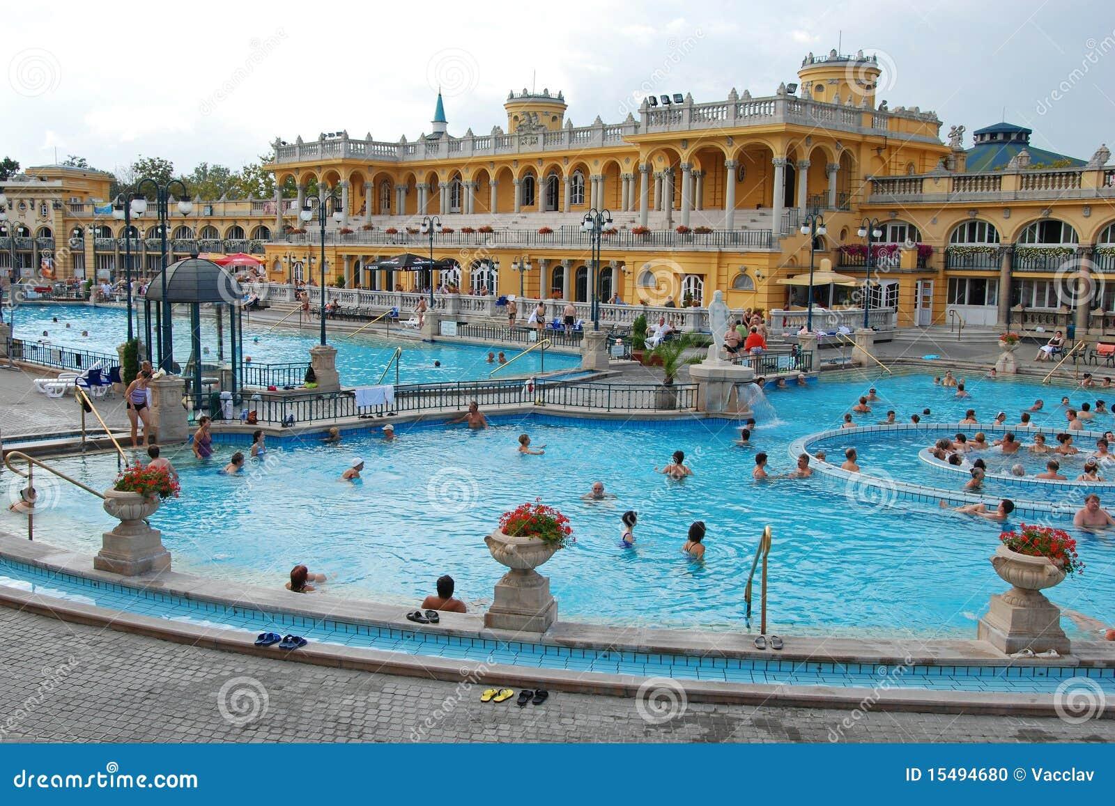 Os Termas De Szechenyi Em Budapest Imagem Editorial - Imagem de ...