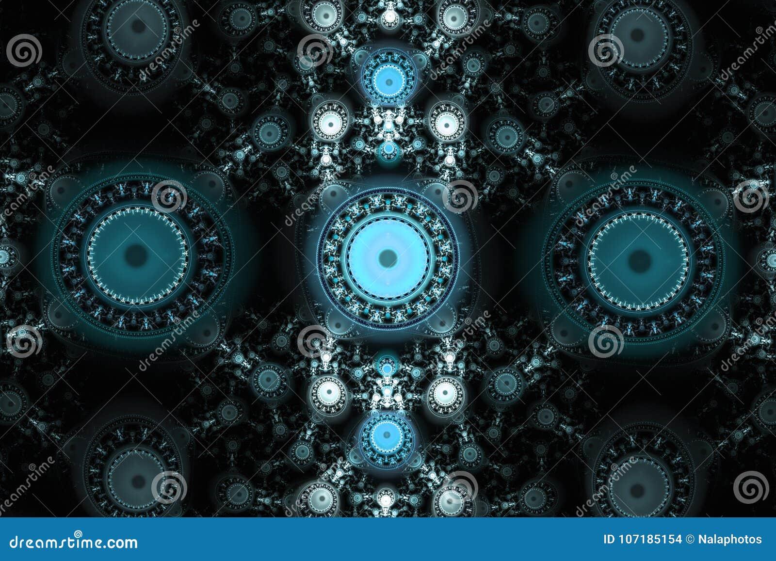 Os testes padrões geométricos podem ilustrar sonhos psicadélicos do espaço da imaginação da fantasia e o universo mágico Fractal