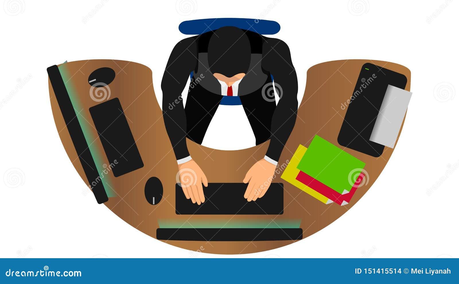 Os trabalhadores de escritório trabalham com funções múltiplas
