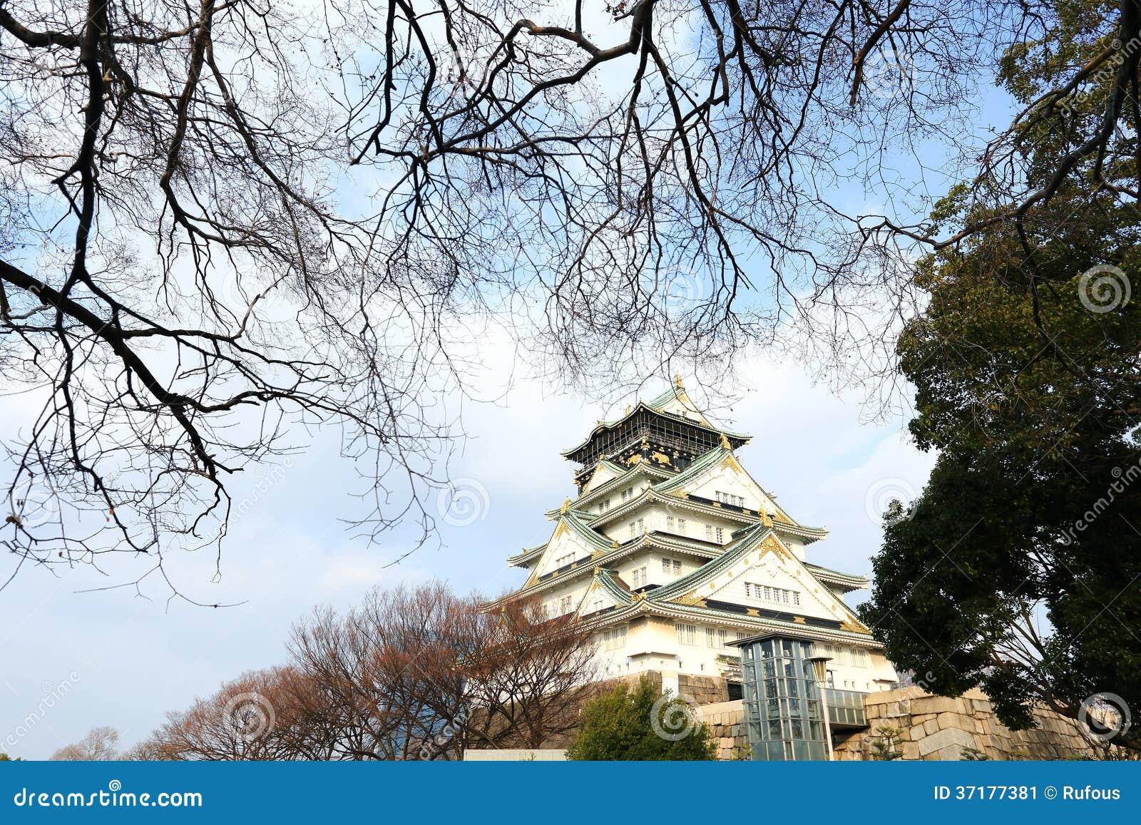 osaka castle in osaka japan stock image image 37177381. Black Bedroom Furniture Sets. Home Design Ideas