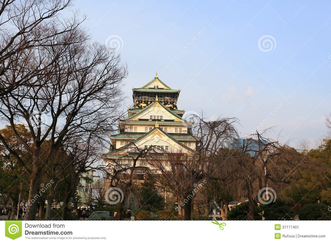 osaka castle in osaka japan stock image image 37177401. Black Bedroom Furniture Sets. Home Design Ideas