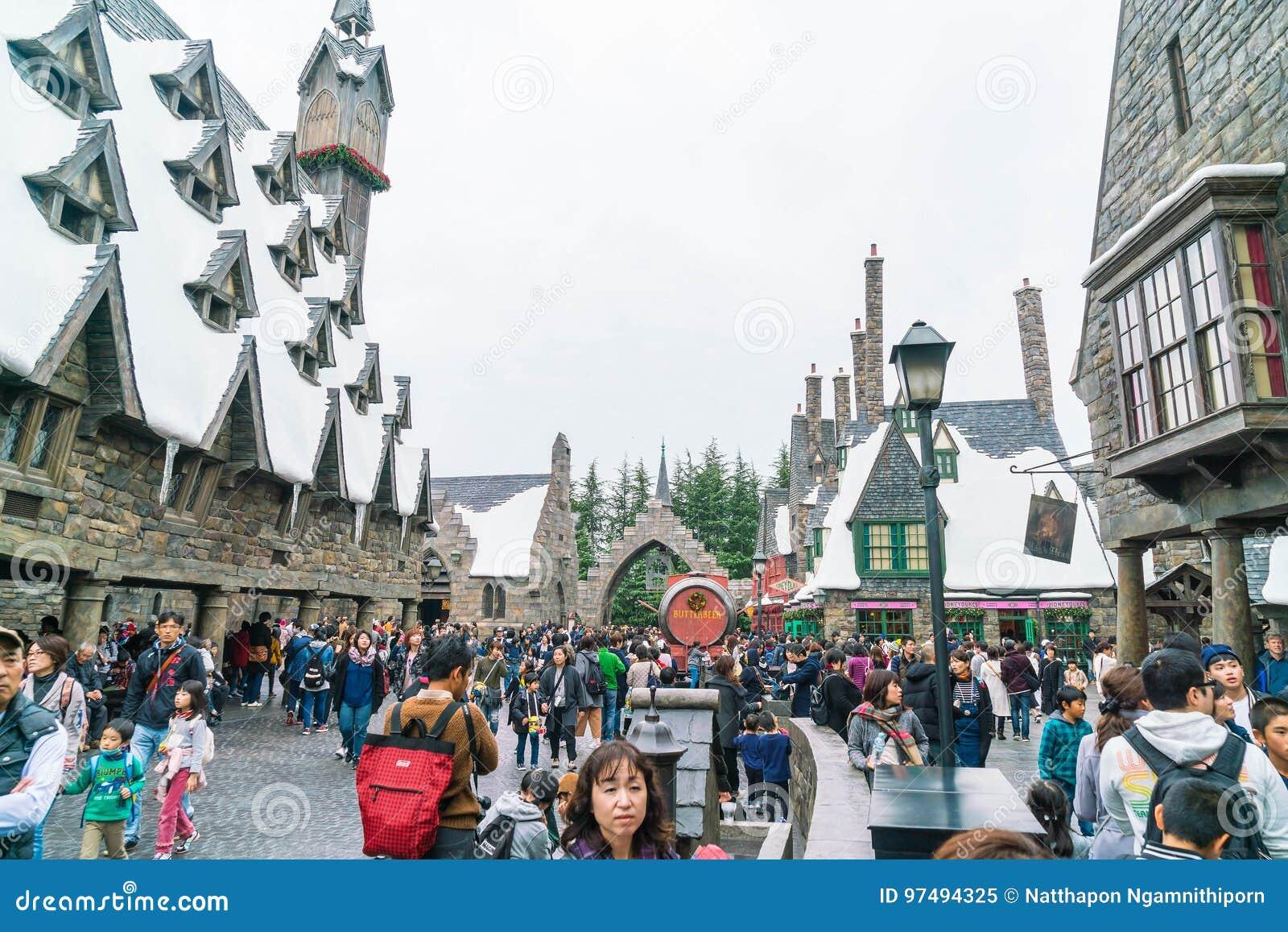 Osaka, Giappone - 21 novembre 2016: Il mondo di Wizarding di Harry Potter