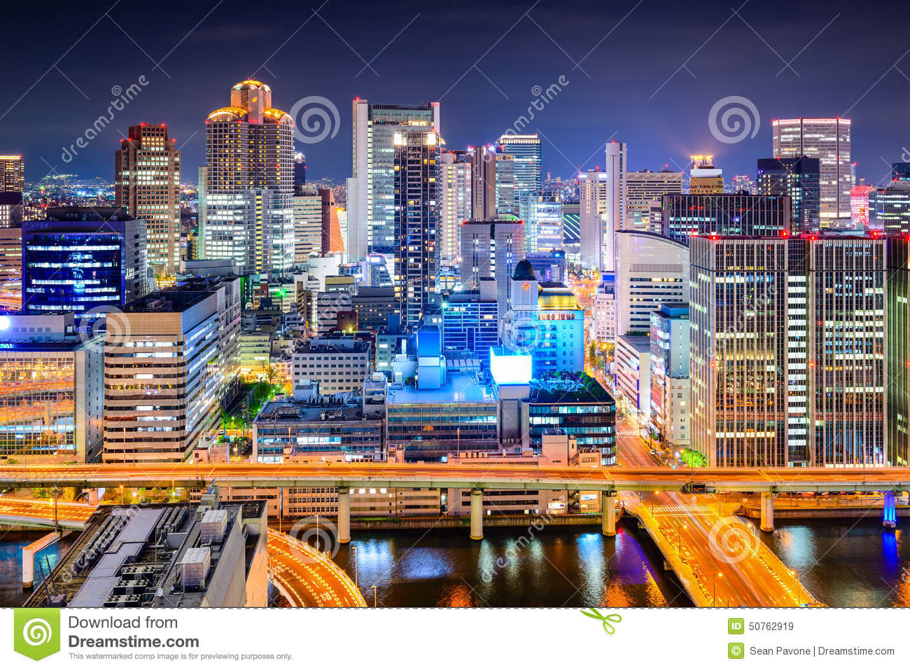 Osaka paysage urbain du japon photo stock image 50762919 for Paysage de ville