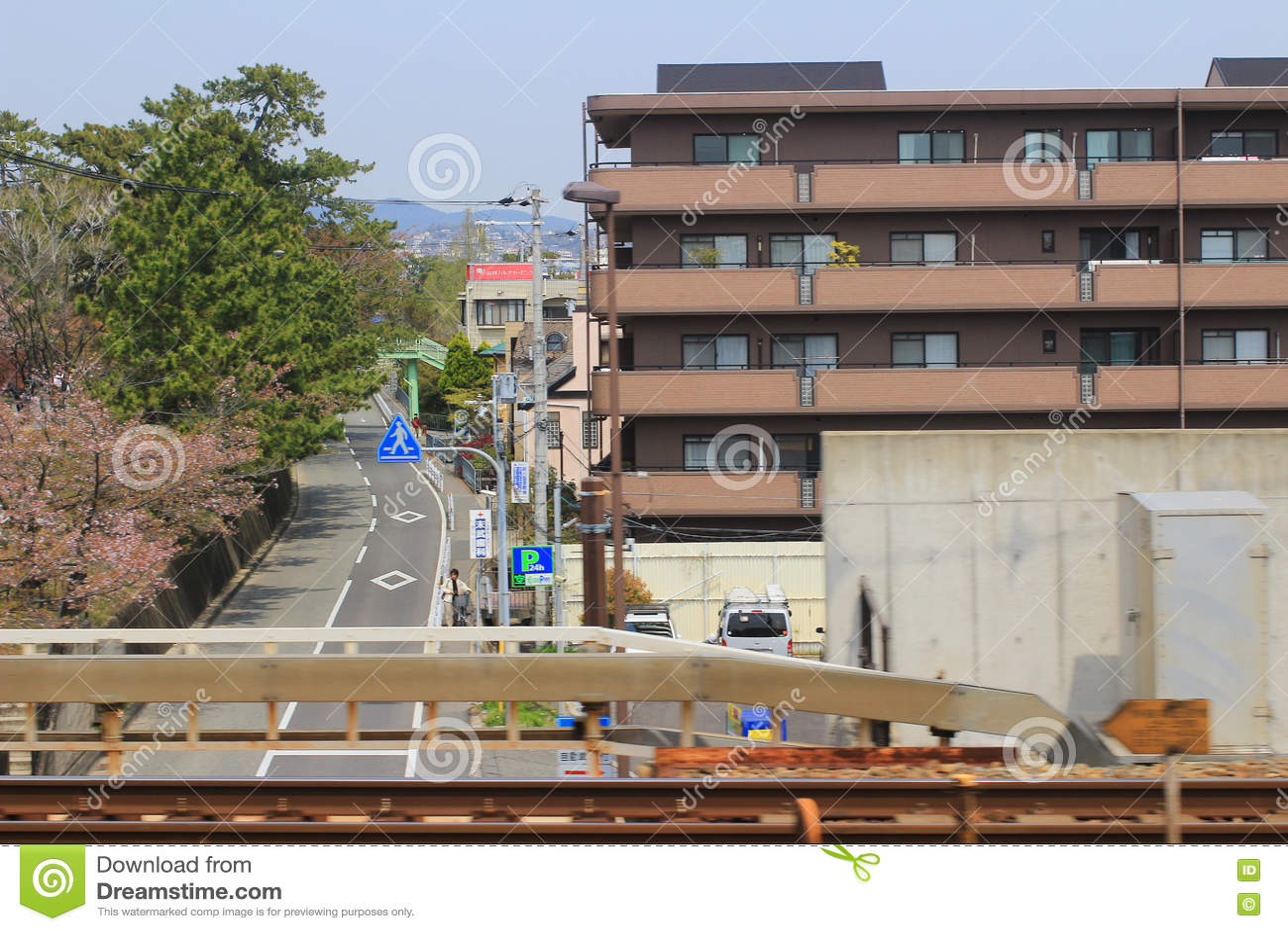 Osaka To Kobe View Out Of Train Stock Image - Image of train