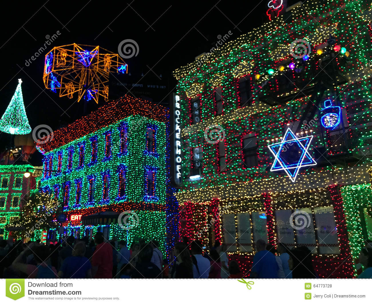 download osborne christmas lights at hollywood studios orlando fl editorial stock photo