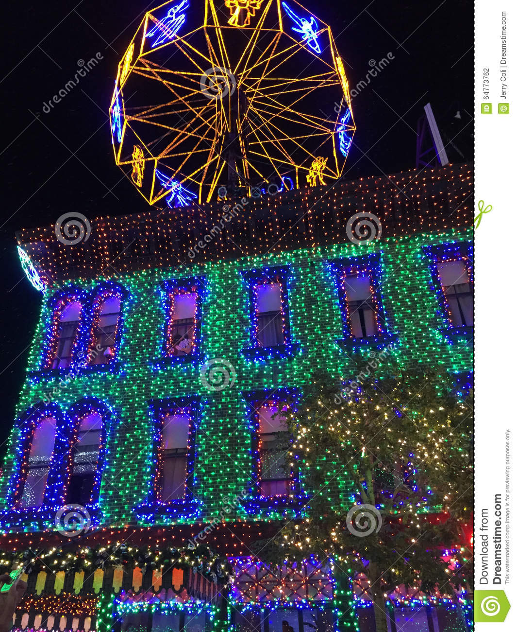 download osborne christmas lights at hollywood studios orlando fl editorial photography image