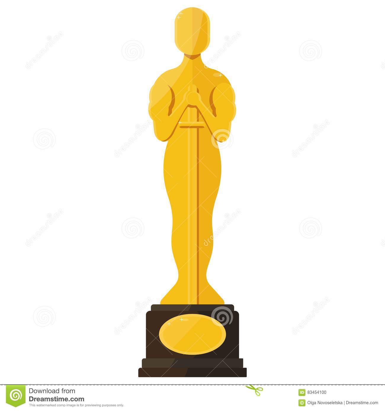 Oscar film festival award stock vector. Image of gold ...