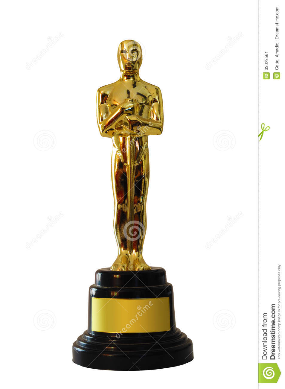 Stock Image Oscar Statue Replica Space Text Image33029561 on oscar statuette clip art