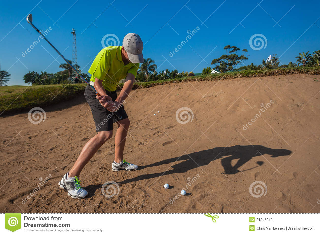 Oscillazione di pratica di Junior Player Sand Shot Golf