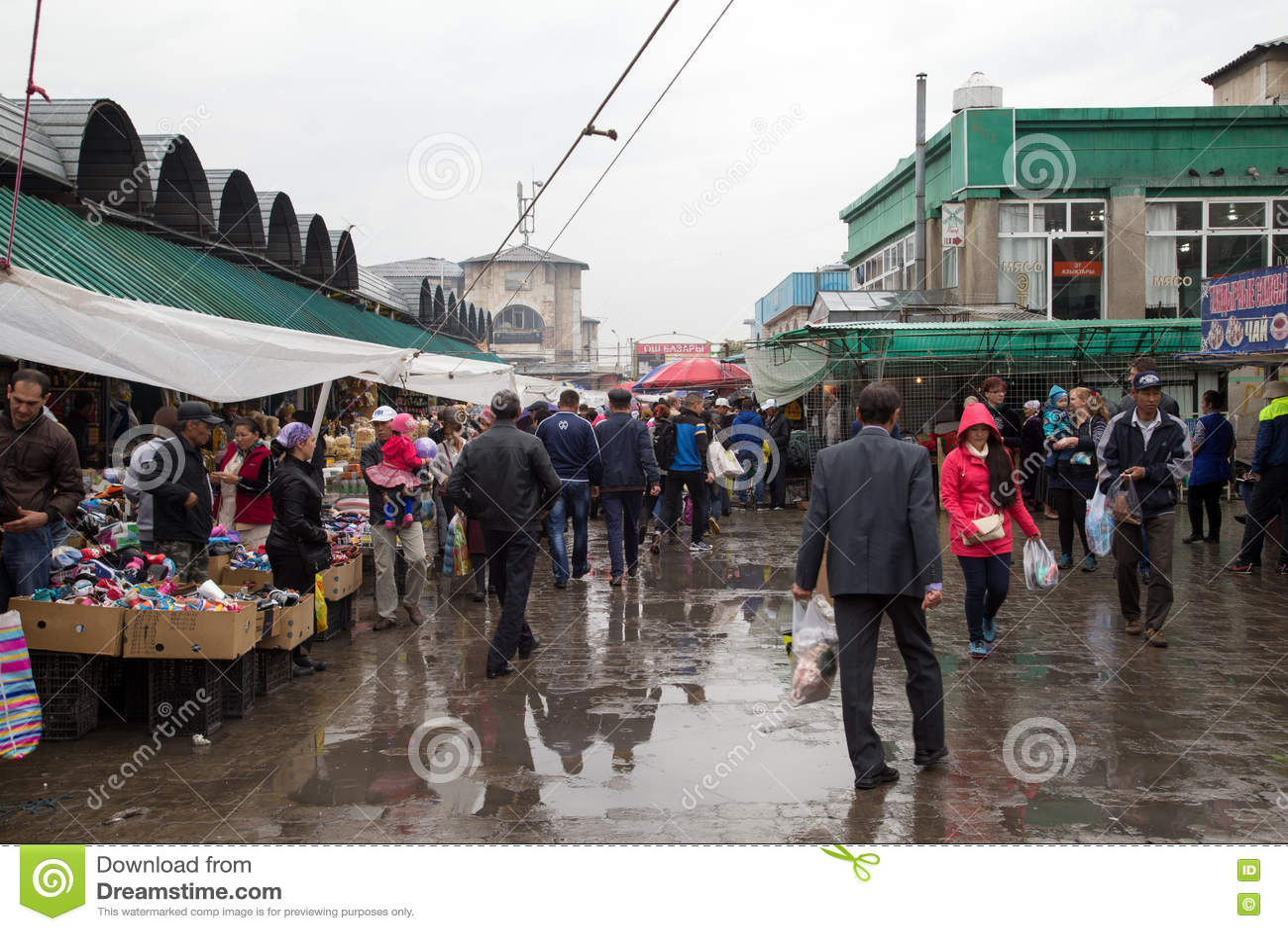 Osh Bazaar In Bishkek, Kyrgyzstan Editorial Image - Image of