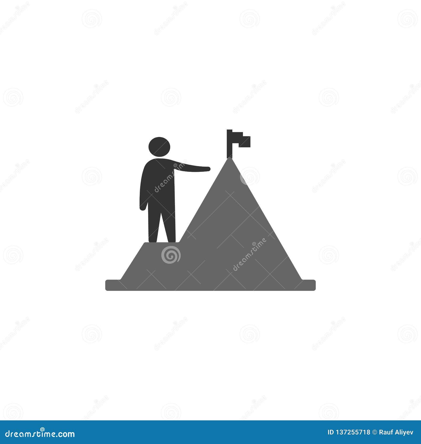 Osiągnięcie, ludzka ikona Element marketingowa ikona dla mobilnych pojęcia i sieci apps Szczegółowy osiągnięcie, istota ludzka mo