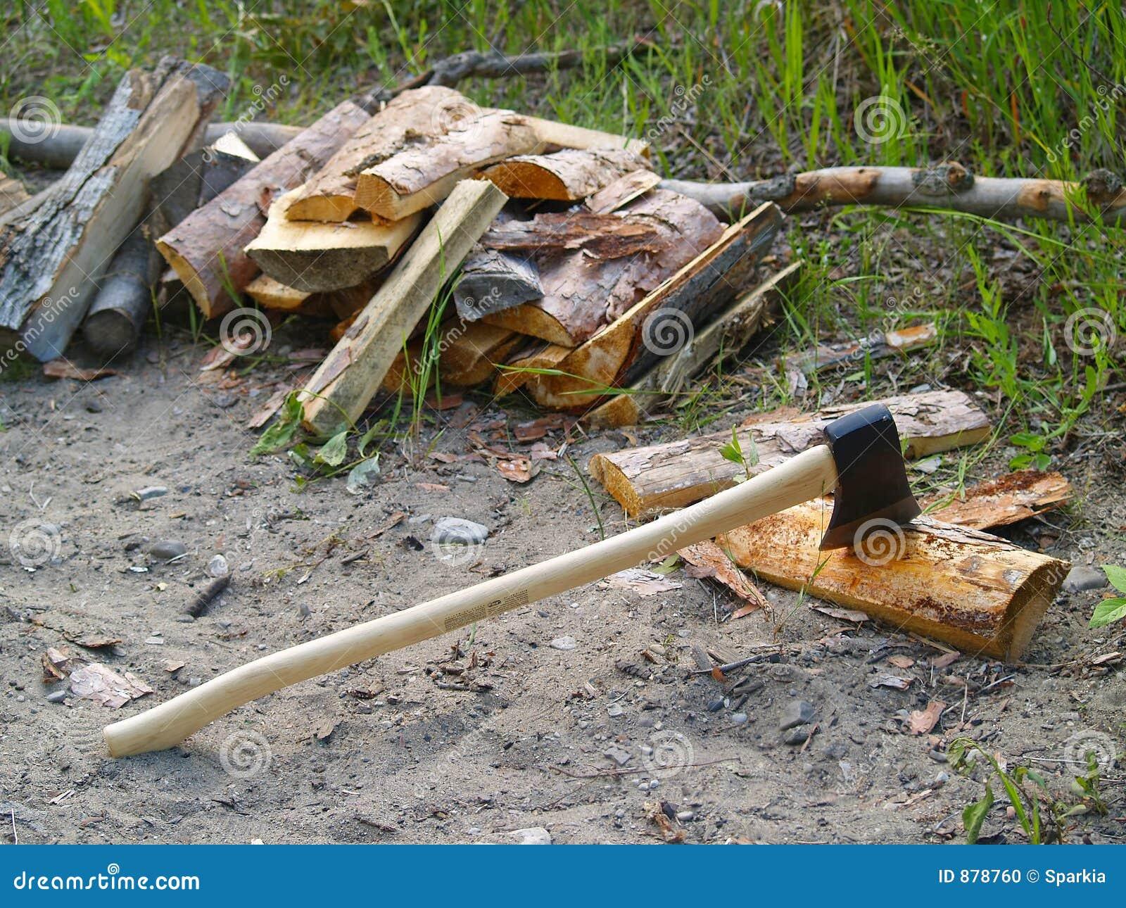 Osie ciapania drewna