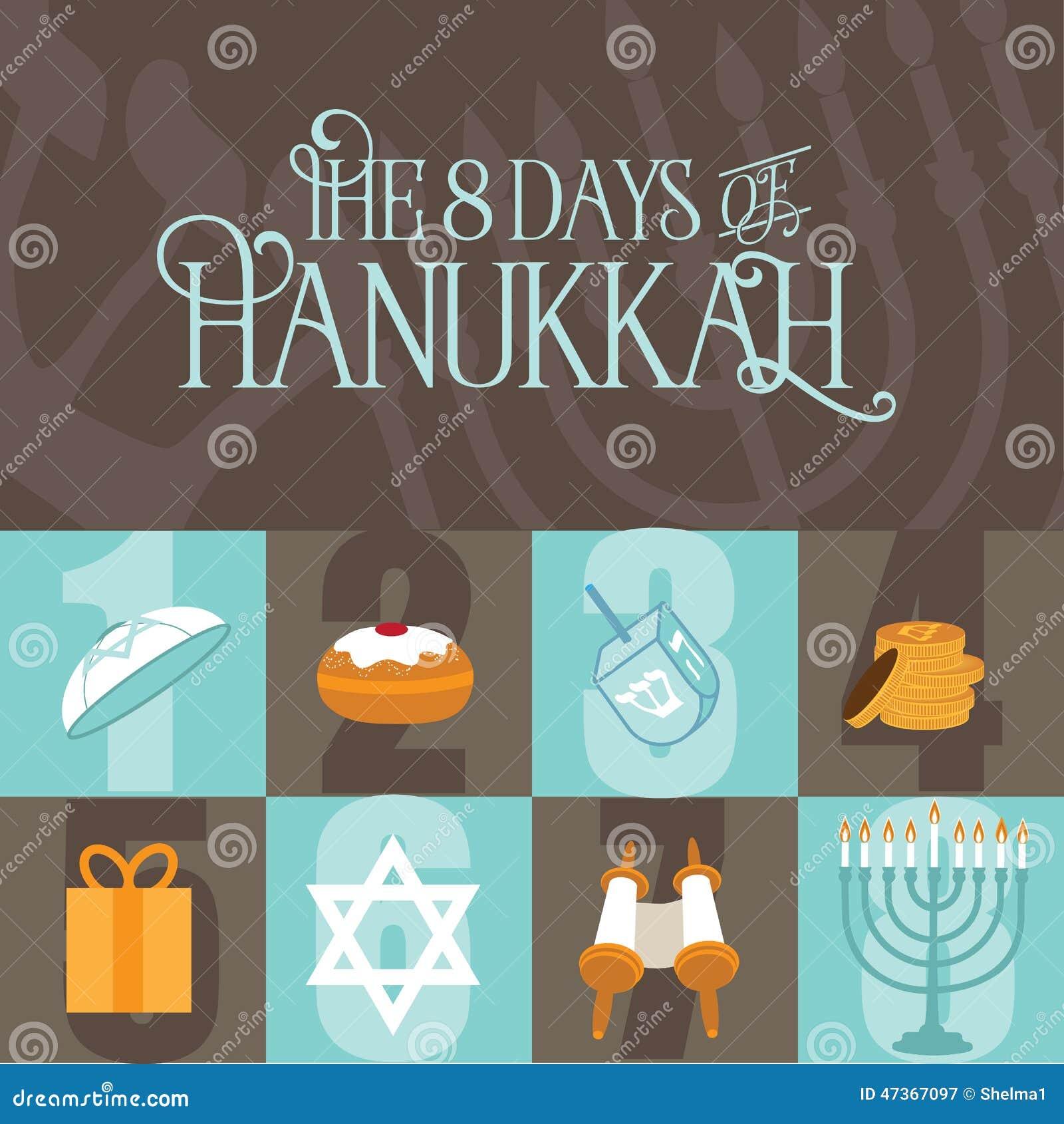 Osiem dni Hanukkah projekt