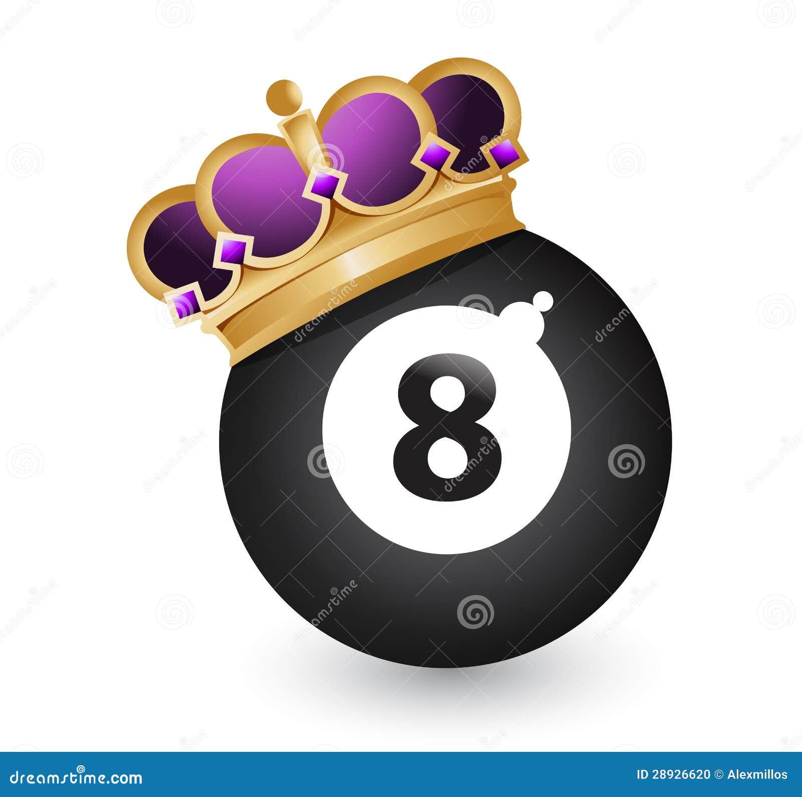 Osiem piłka z koroną