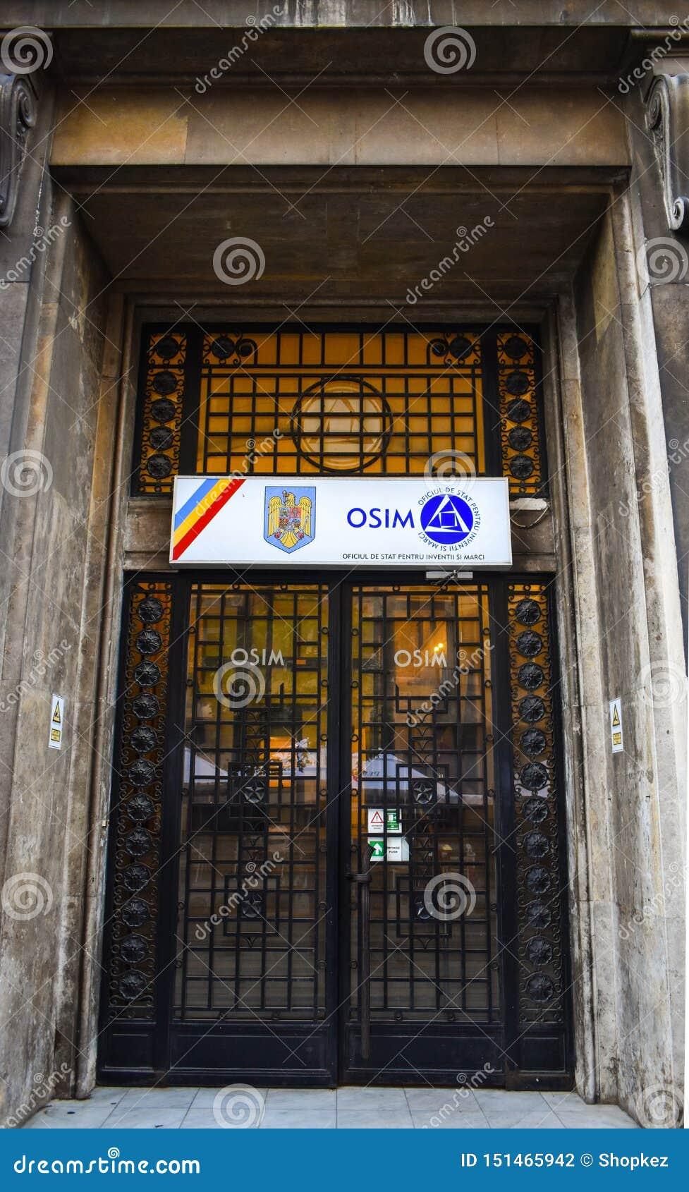 OSIM Bucarest, ufficio dello stato per le invenzioni ed i marchi di fabbrica o ?i M?rci di Inven?ii di pentru di Oficiul de Stat