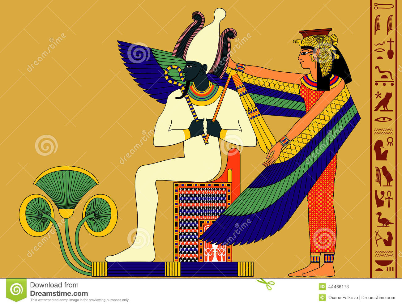 Osiris and isis stock vector illustration of history 44466173 osiris and isis biocorpaavc