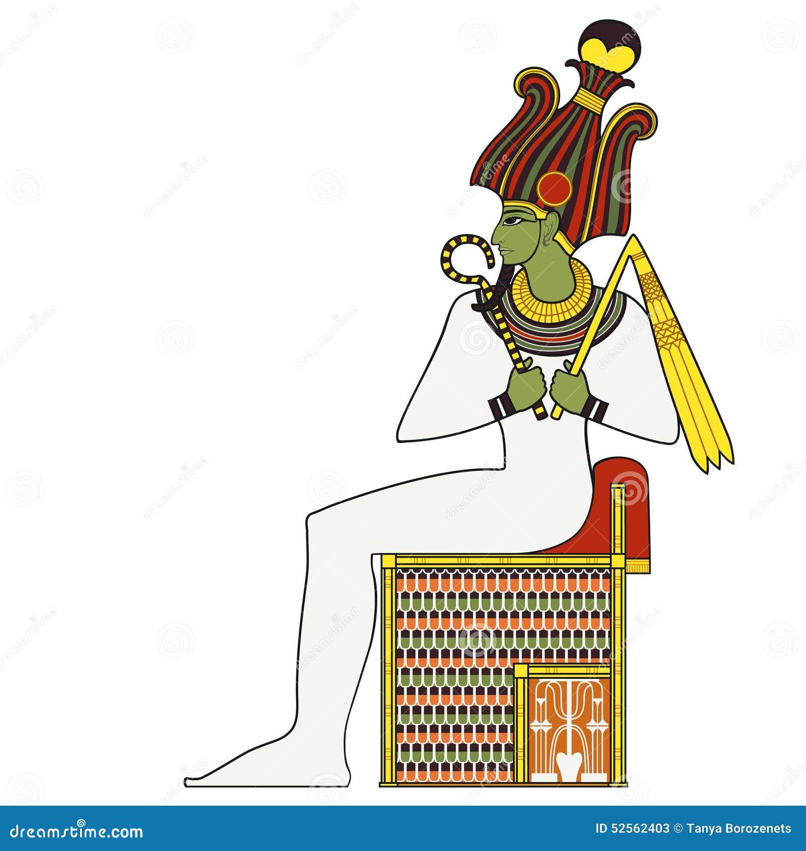 Osiris isolated figure of ancient egypt god stock vector osiris isolated figure of ancient egypt god biocorpaavc Gallery