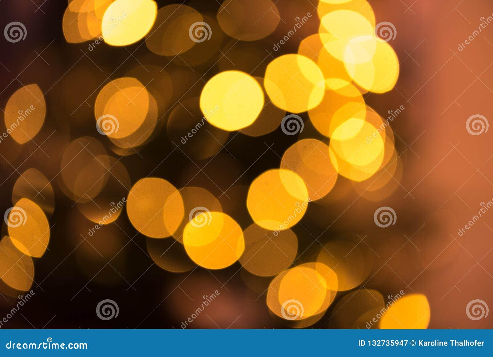 Oskarp bakgrund med ljus för linssignalljusprickar