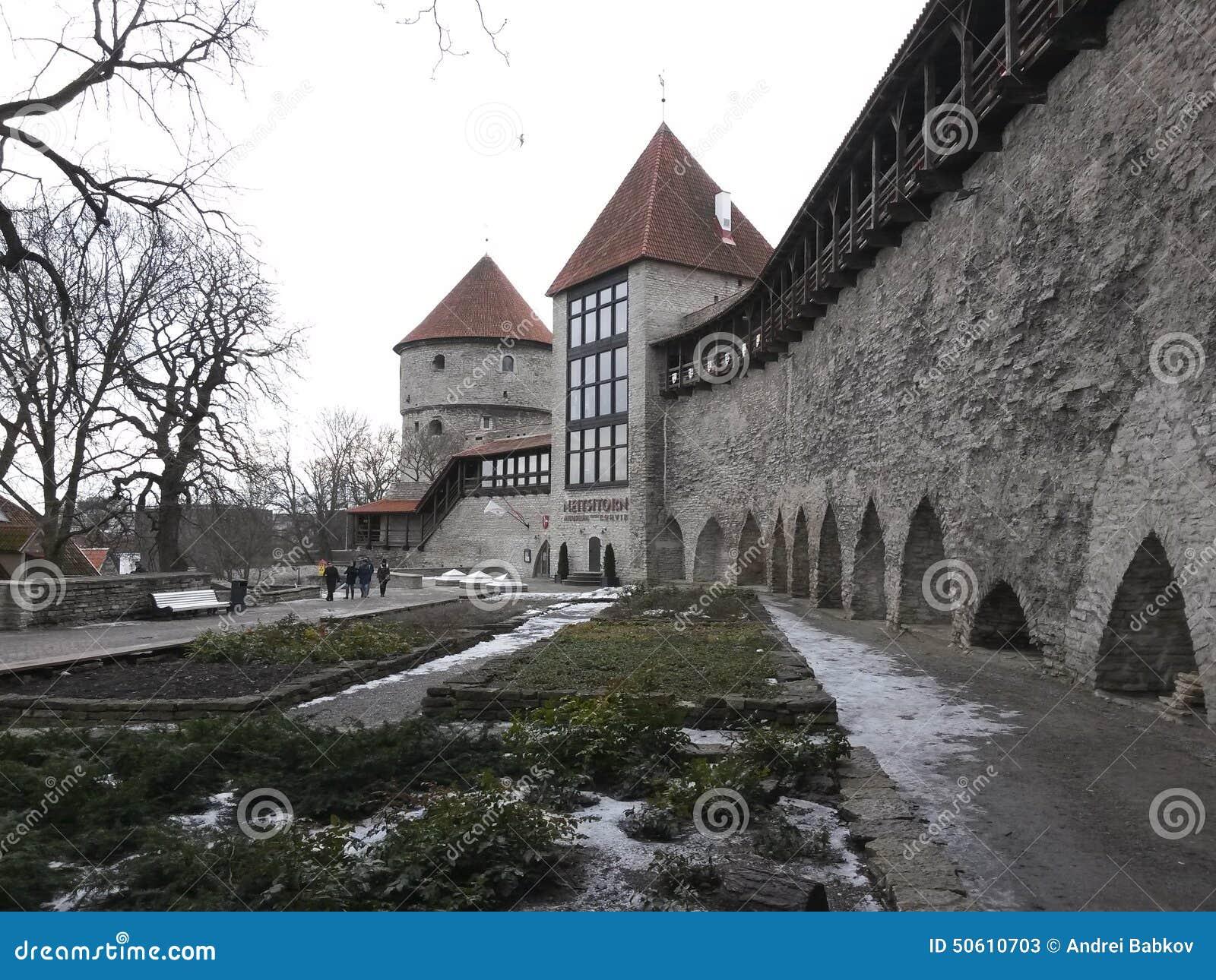 Oskulder står högt i stadsväggen, Tallinn