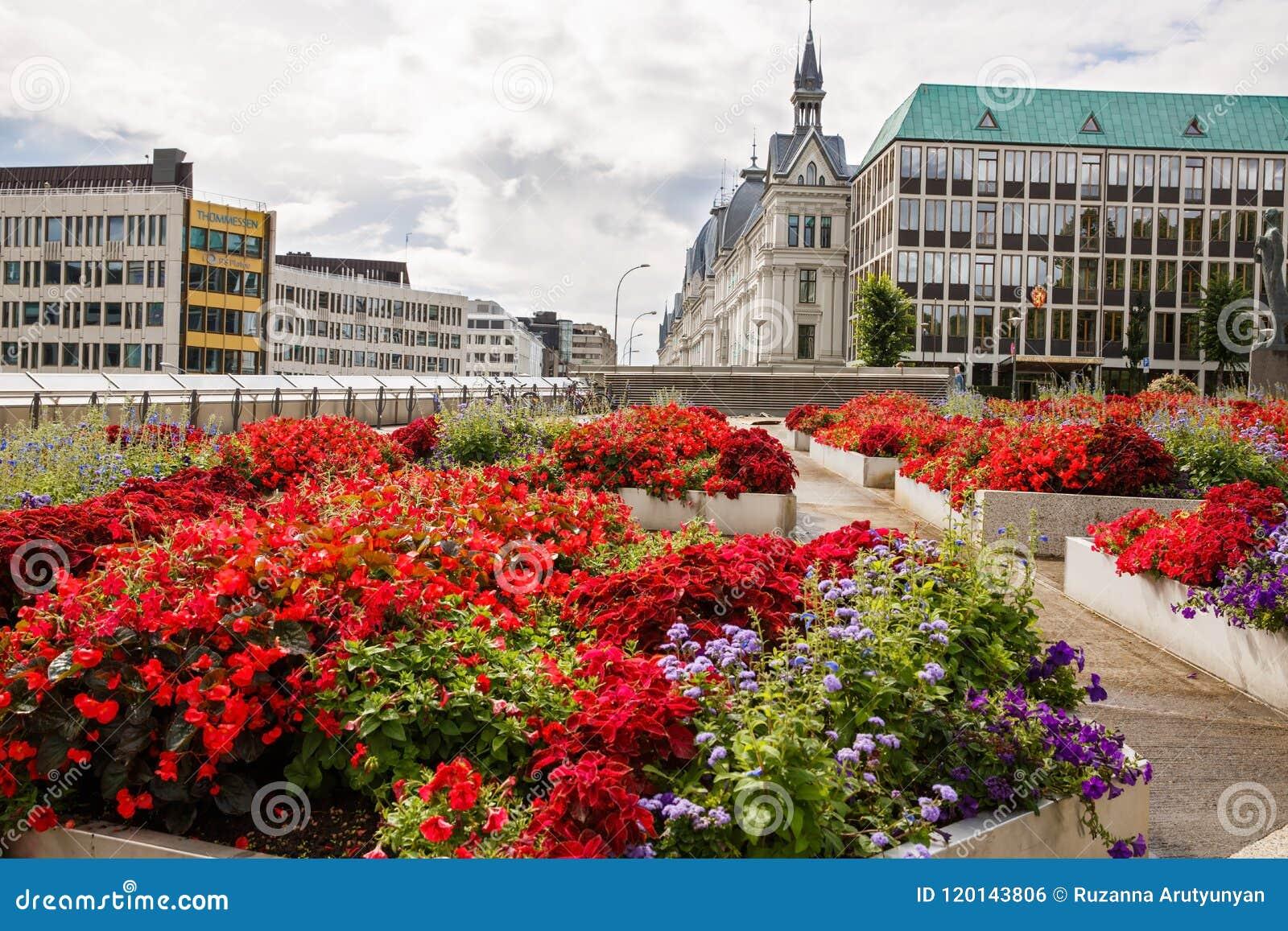 Oslo ist ein Stadtbezirk, sowie das Kapital und die meiste dicht besiedelte Stadt in Norwegen