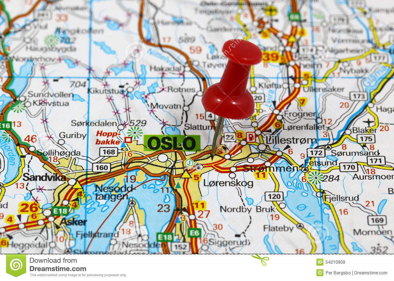 Oslo Stock Photo Image - Norway map free download