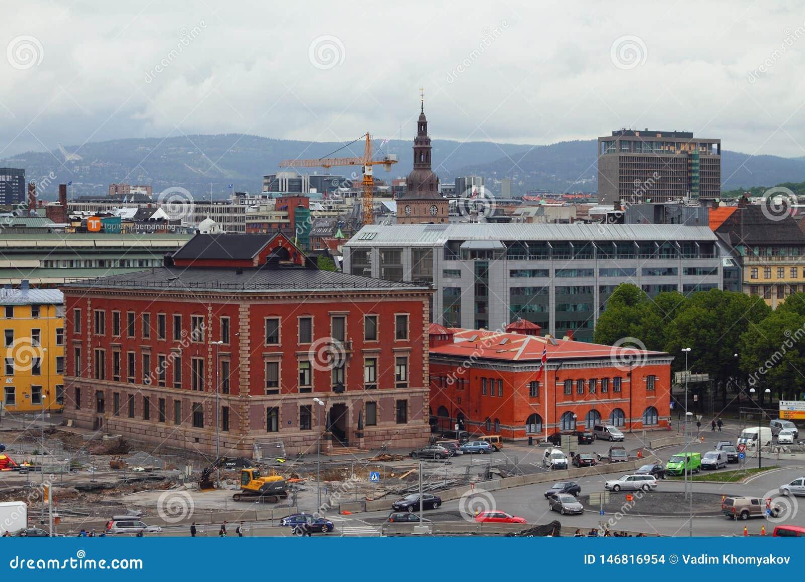 Oslo Norwegia, Jun, - 15, 2012: Historyczny centrum miasto