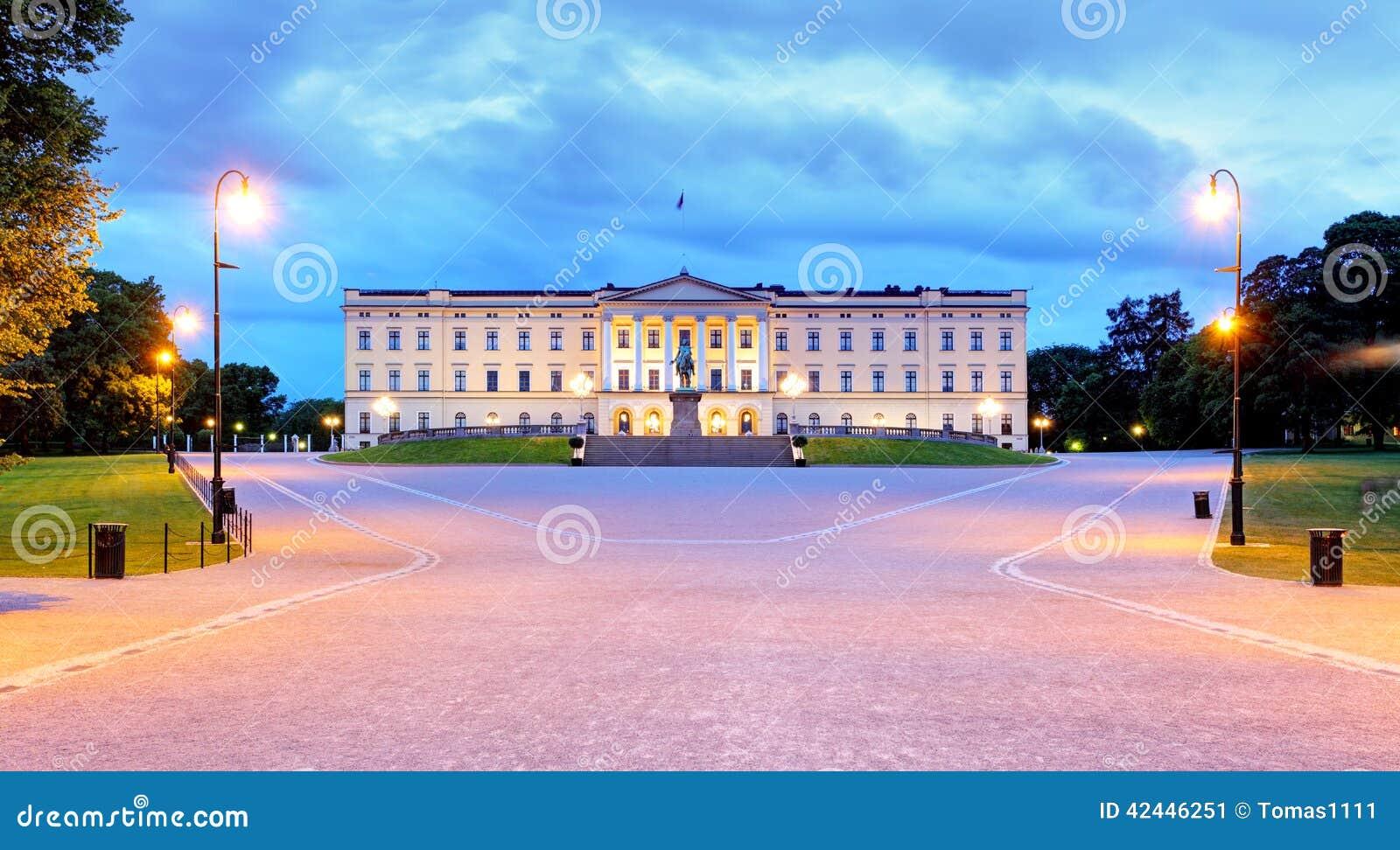 Oslo - palacio real, Noruega
