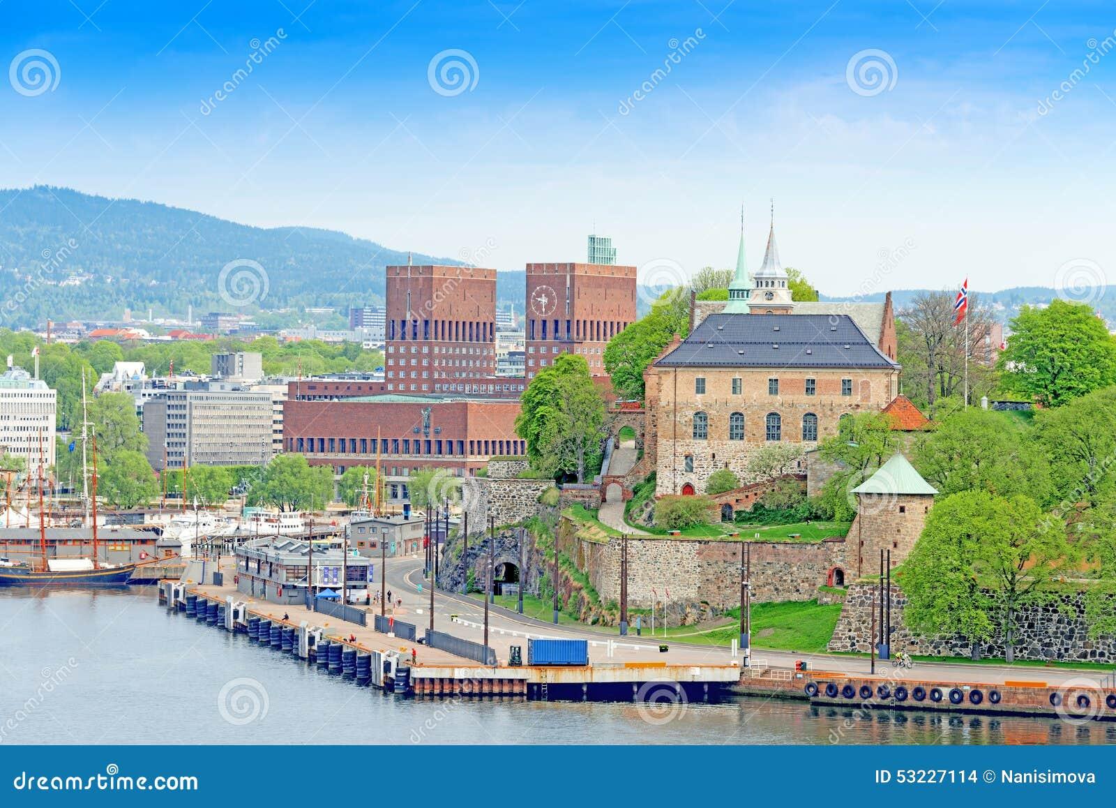 Oslo y Akershus del mar Oslo Noruega horizontal