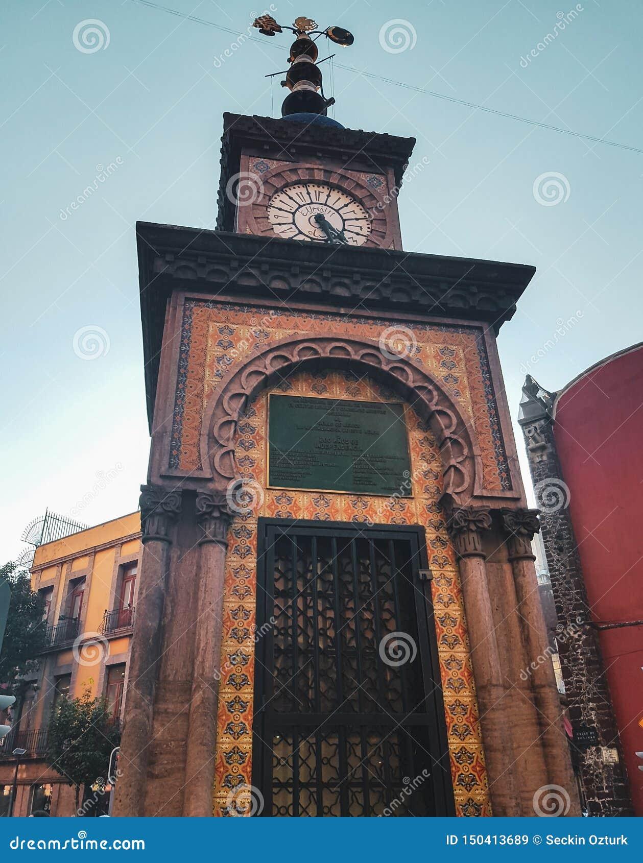 Osmaneuhr in Mexiko City, Mexiko