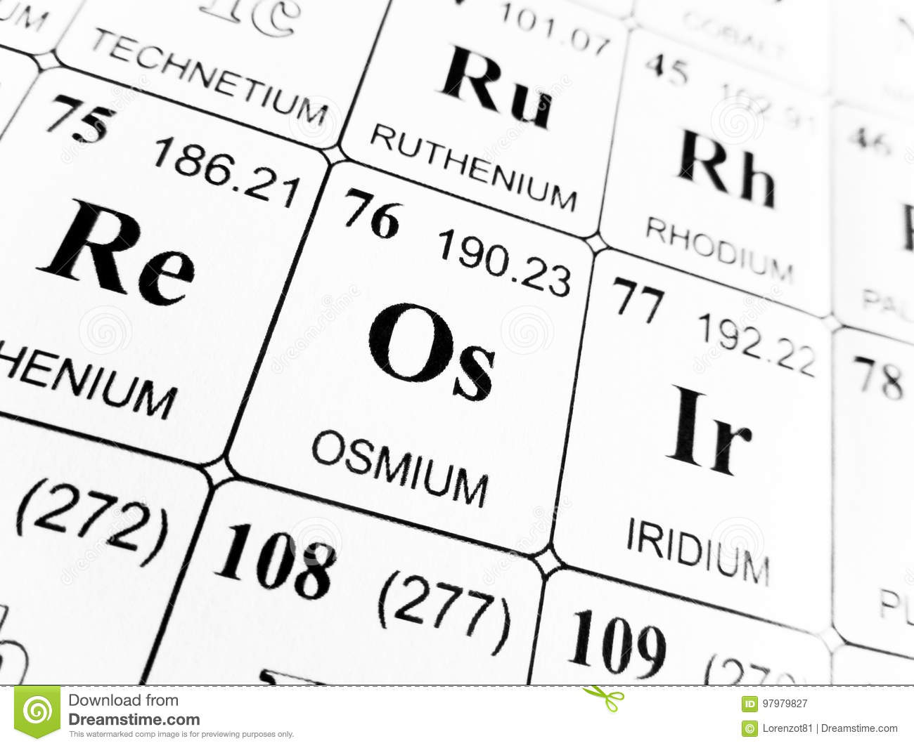 Osmium on the periodic table of the elements stock image image of download osmium on the periodic table of the elements stock image image of element urtaz Gallery