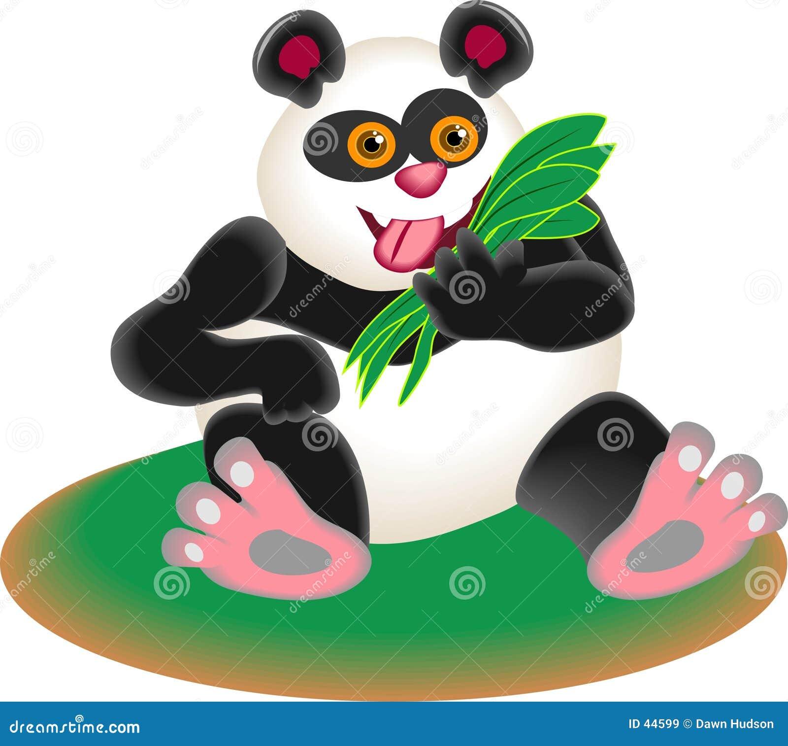 Download Oso de la panda ilustración del vector. Ilustración de comidas - 44599