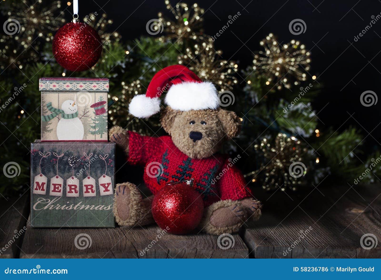 Oso de peluche de la Feliz Navidad