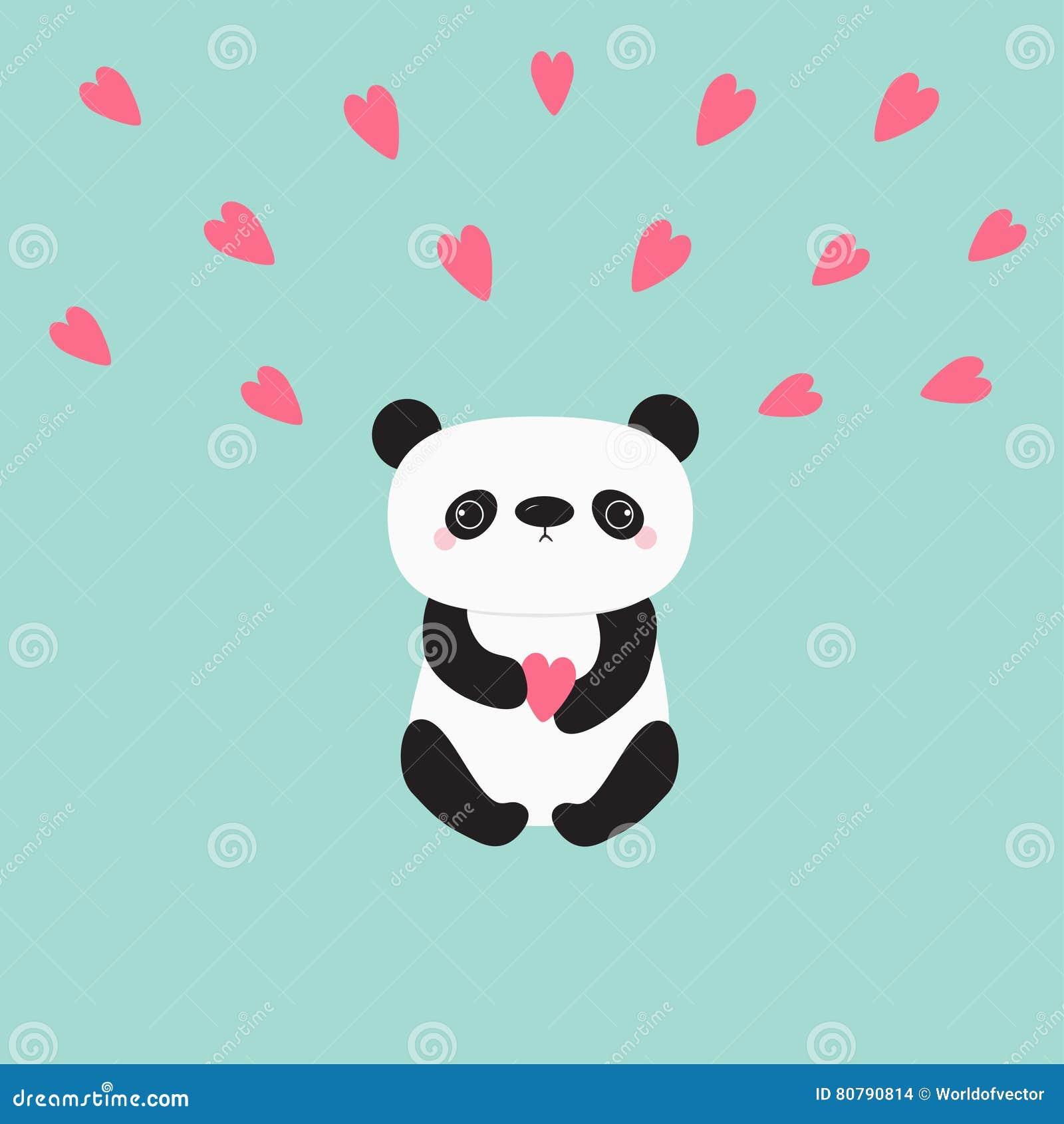 Oso Del Bebé De La Panda De Kawaii Personaje De Dibujos Animados