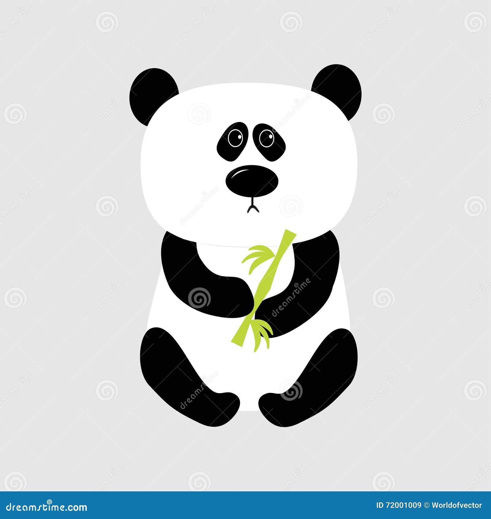 Oso Del Bebé De La Panda Personaje De Dibujos Animados Lindo Que