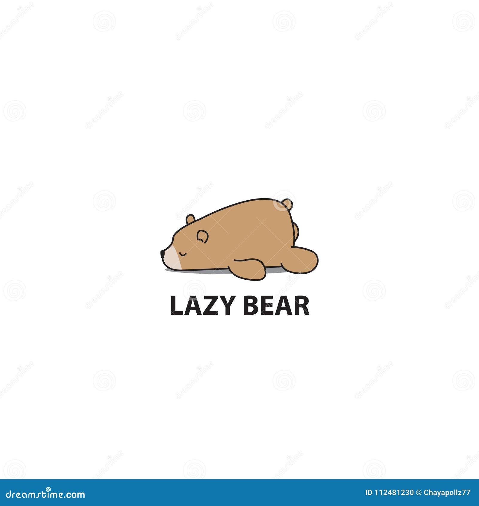 Oso Perezoso, Icono El Dormir Del Oso Grizzly, Diseño Del