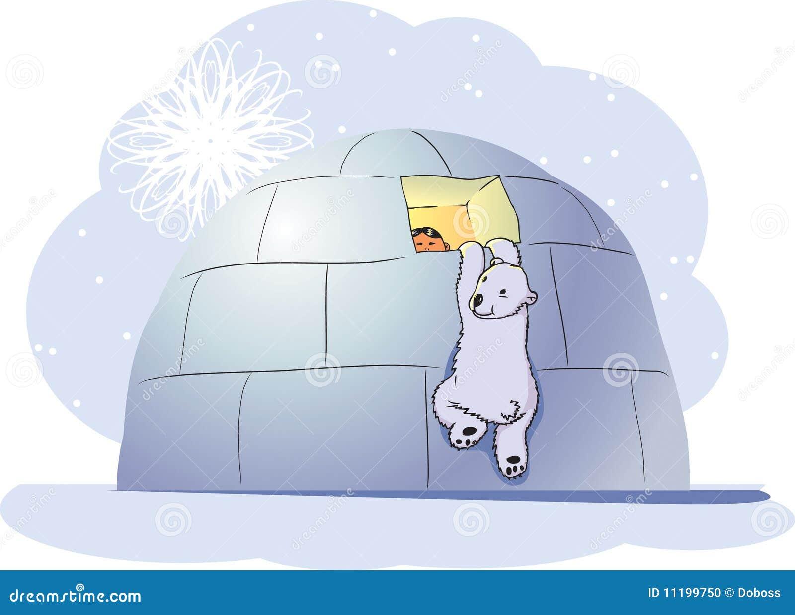 Oso polar y muchacho