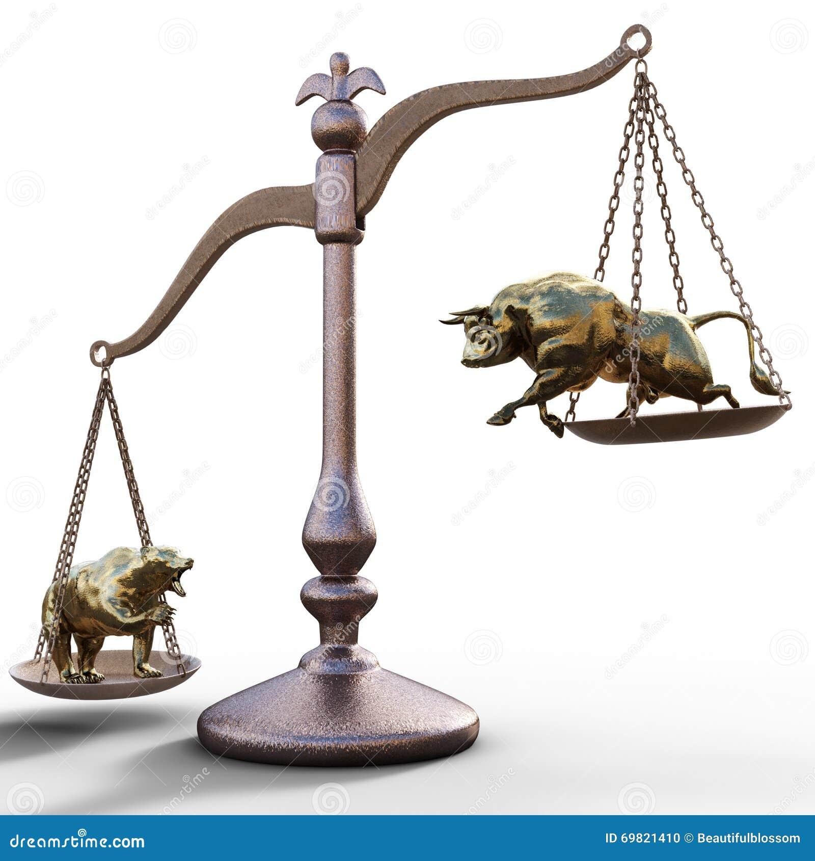 Oso y toro en las escalas