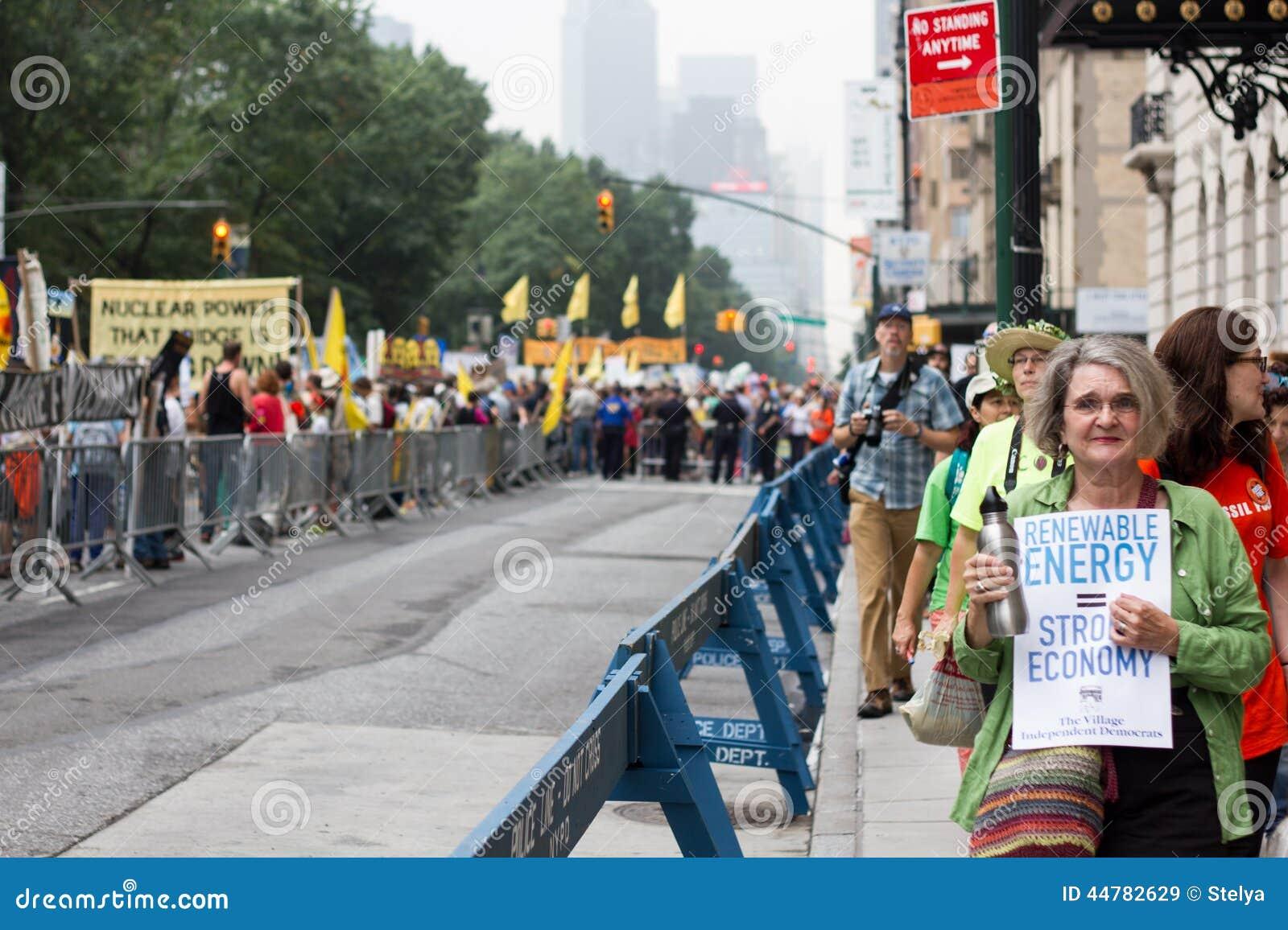 Osoba klimat Marzec NYC