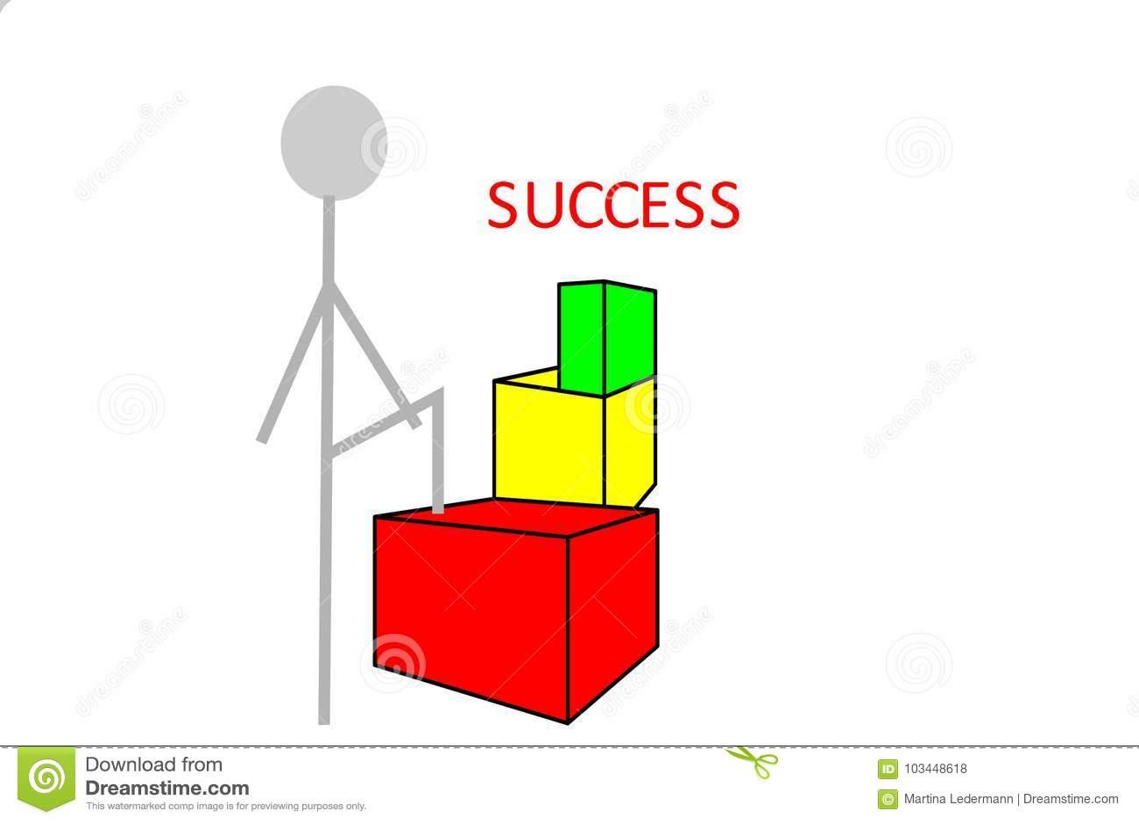 Osoba na sposobie sukces