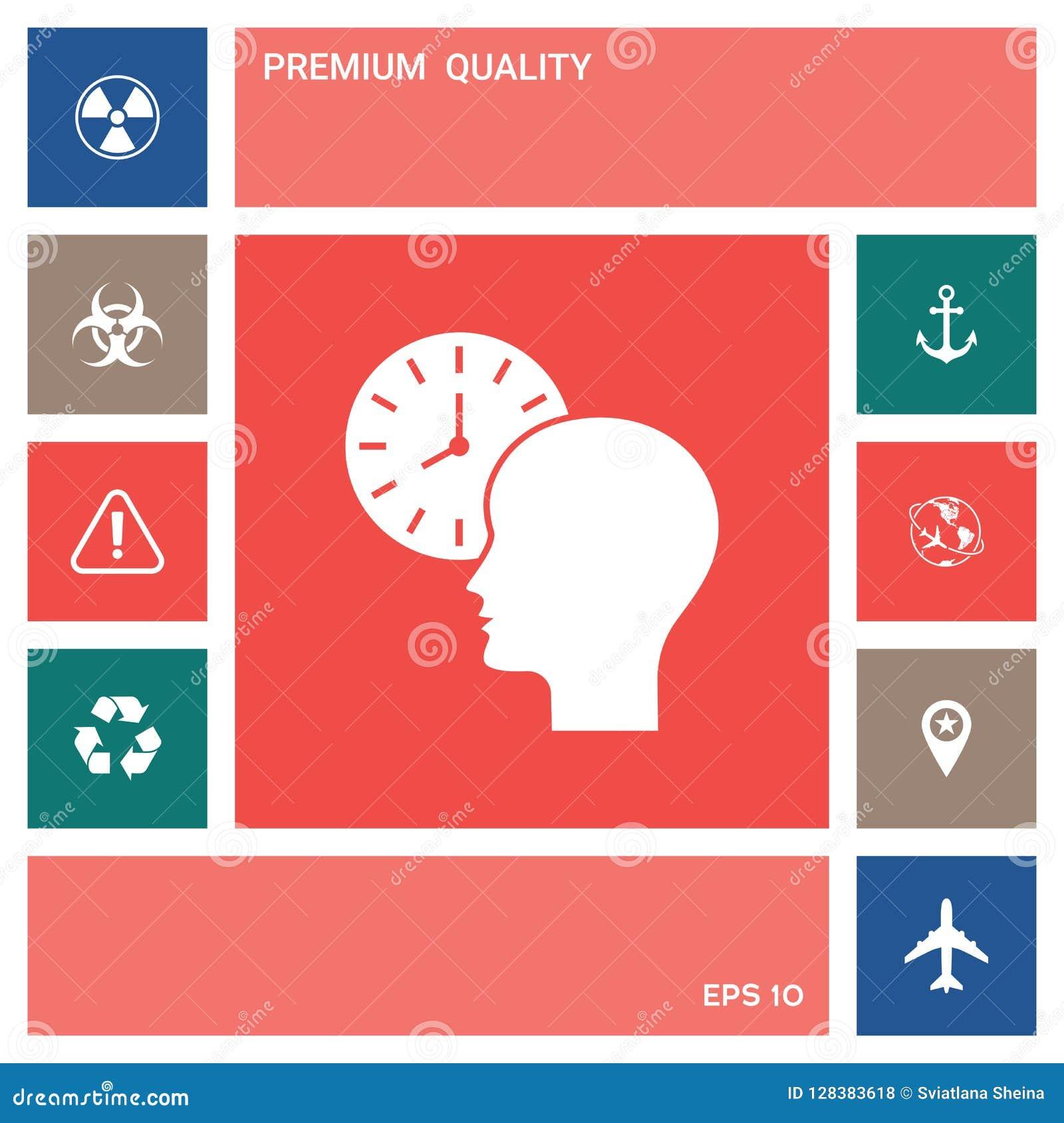 Osobisty rozkład, czasu zarządzanie, osoba z zegarek ikoną